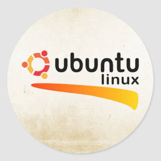 Ubuntu Linux Open Source Sticker Rond