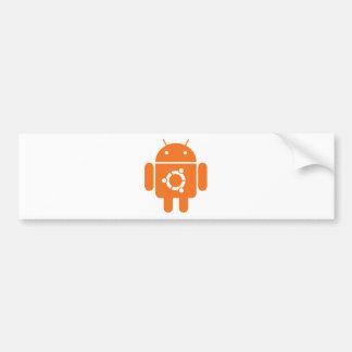 Ubuntudroid de code de T-shirt d'Ubuntu Droid Autocollant Pour Voiture