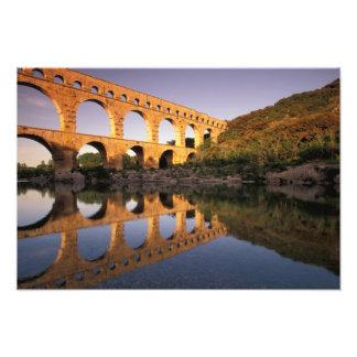 UE, France, Provence, le Gard, Pont du le Gard. 2 Photos Sur Toile