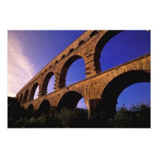 UE, France, Provence, le Gard, Pont du le Gard. 3 Tirage Photo