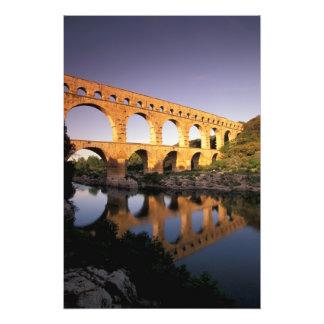 UE, France, Provence, le Gard, Pont du le Gard. 3 Photos D'art