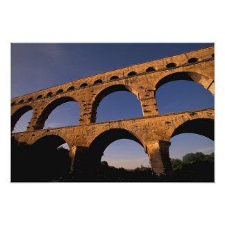 UE, France, Provence, le Gard, Pont du le Gard. 4 Impression Photo