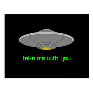 UFO - Abduction volontaire Carte Postale