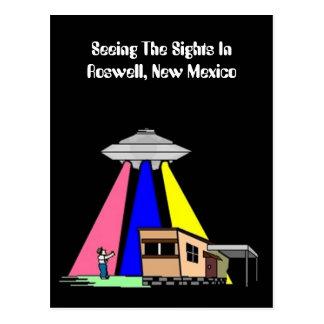 UFO étranger de la moitié du siècle apercevant la Carte Postale