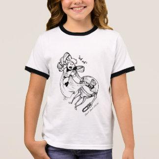 """""""uh oh"""" superhéros t-shirt ras-de-cou"""