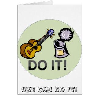 Uke peut le faire ! carte de vœux