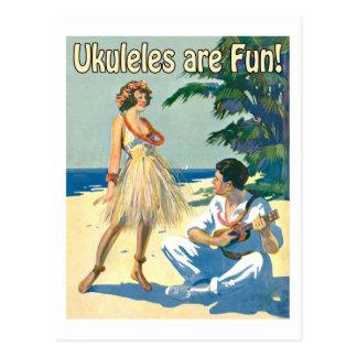 Ukes sont amusement ! Carte postale