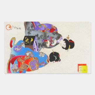 Ukio japonais oriental frais d'art de geisha du cl adhésifs