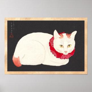 ukiyo-e de portrait de chat de nekko de tama de posters