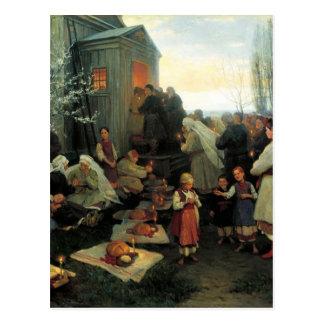 Ukrainien Pâques/bénédiction Den de velyk Carte Postale