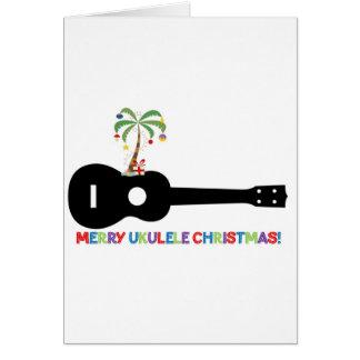 Ukulélé de Joyeux Noël Carte De Vœux