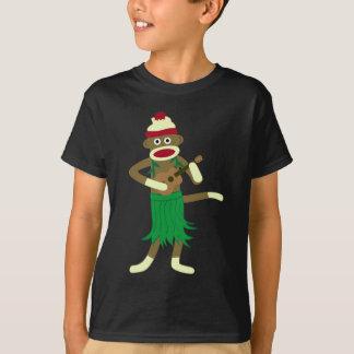 Ukulélé de singe de chaussette t-shirt