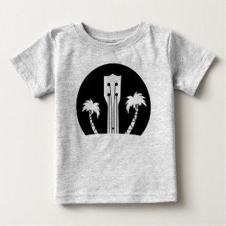 Ukulélé et palmiers t-shirt pour bébé