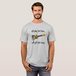 Ukulélé - jeu pour libre stoppé pour l'argent t-shirt