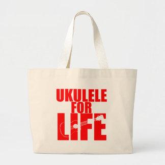 Ukulélé rouge sac