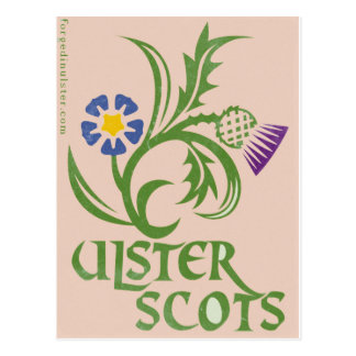 Ulster-Ecossais lin et conception de chardon Carte Postale
