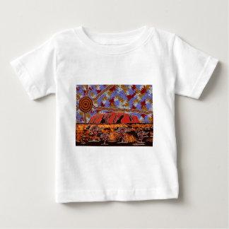 Uluru - art indigène authentique t-shirt pour bébé
