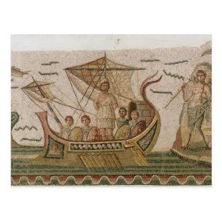 Ulysse et les sirènes carte postale