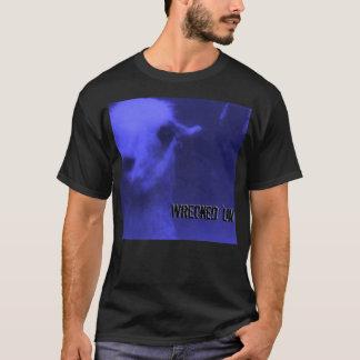 'Um chemise 1995 bleue détruite de tour du monde T-shirt