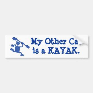 Un adhésif pour pare-chocs du kayak de mon autre v autocollant de voiture