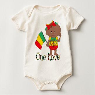 Un Afro-américain de bébé de Rasta d'amour Barboteuses