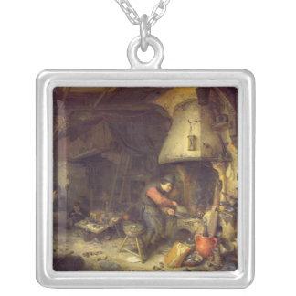 Un alchimiste, 1611 pendentif carré