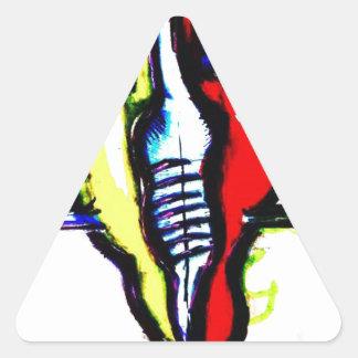 Un ami aux idées et aux fantômes sticker triangulaire