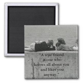 Un ami vrai magnet carré