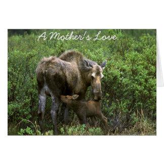 Un amour de mère carte de vœux