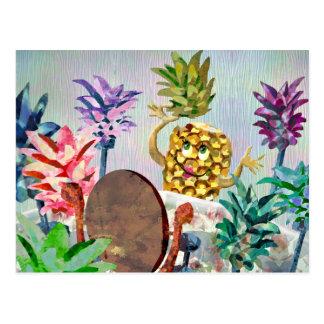 Un ananas fait face à des choix difficiles dans carte postale
