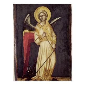 Un ange avec un démon sur une chaîne carte postale