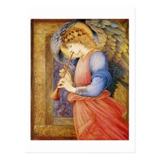 Un ange jouant un flageolet - Edward Burne-Jones Carte Postale