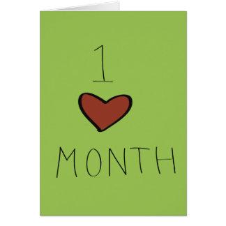 Un anniversaire de mois cartes