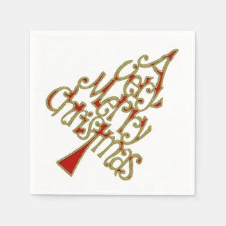 Un arbre de Noël très Joyeux + votre backgr. et Serviettes Jetables