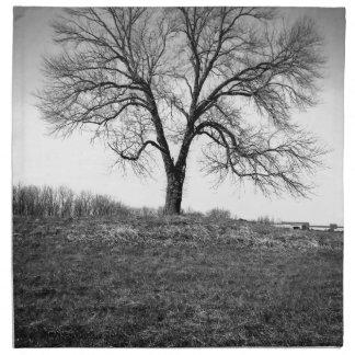 Un arbre serviette en tissu