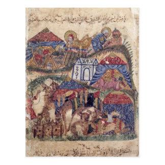 """Un arrêt de caravane, """"du Maqamat"""" par Carte Postale"""