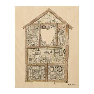 Un art en bois de mur de Chambre très fine