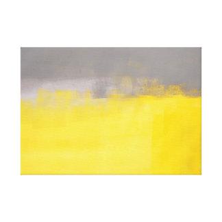 """"""""""" Un art gris et jaune abstrait simple Toiles"""
