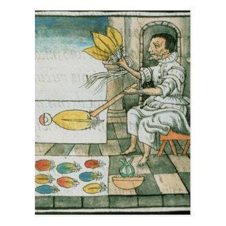 Un artisan aztèque de plume carte postale