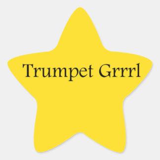 Un autocollant de l étoile de Grrrl de trompette