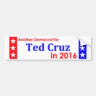 Un autre Démocrate pour Ted Cruz 1016 Autocollant Pour Voiture