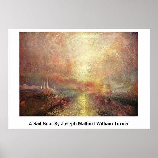 Un bateau à voile par Joseph Mallord William Turne Poster