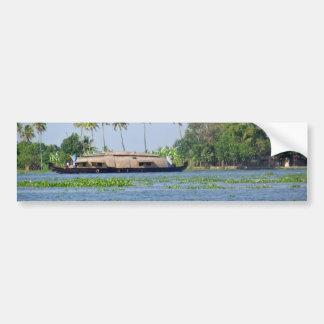 Un bateau-maison dans les mares au Kerala Adhésifs Pour Voiture