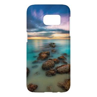 Un beau coucher du soleil au-dessus des Turcs et Coque Samsung Galaxy S7