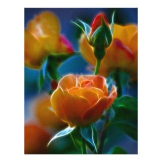 Un beau groupe de roses et de signification tract