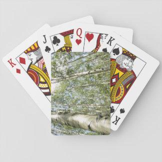 Un beau jour dans les cartes de jeu de forêt cartes à jouer
