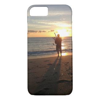 un beau lever de soleil à la plage avec la musique coque iPhone 7