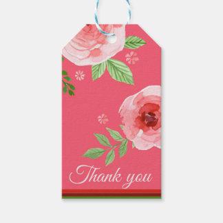 un beau rose rose vous remercient d'étiqueter étiquettes-cadeau
