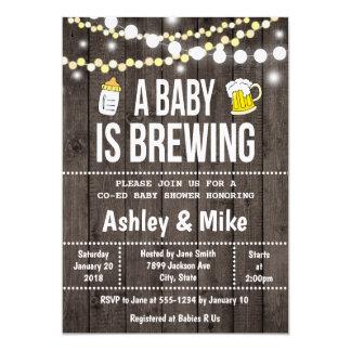 Un bébé brasse - invitation de baby shower