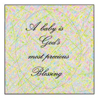 Un bébé est la bénédiction la plus précieuse de
